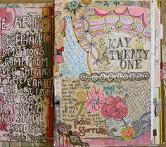 Art Journaling: Inspired by Pam Garrison
