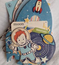 My 'To the Moon' album using October Afternoon's 'Rocket Age'  Some Mini Album Lovin'…..  @ Candycoatedwhimsical.wordpress.com   | paper crafting with spirit….