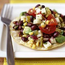 Mexican Black Bean Salad- So delicious. Amazing on rice or as a tostada. I was already madly in love with it, and then I found out it is from Weight Watchers. So Yums!
