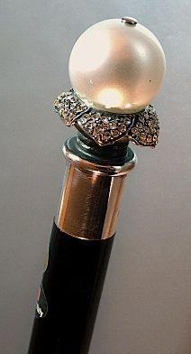 Italian Pearl & Petals Luxury Special Occasion Walking Stick