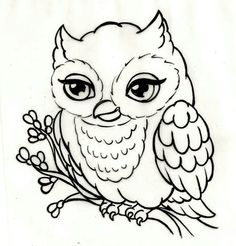 Owl Tattoo by Metacharis on DeviantArt Simple Owl Body Outline Owl Outline, Outline Drawings, Animal Drawings, Easy Drawings, Owl Drawings, Owl Coloring Pages, Coloring Pages For Girls, Coloring Books, Free Coloring