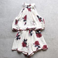dance all night floral halter romper - shophearts - 1