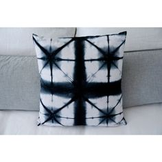 18X18 Black Shibori Pillow Cover ($28) ❤ liked on Polyvore featuring home, home decor, throw pillows, etsy, handmade, integritytt, pillow, black toss pillows, black throw pillows and black accent pillows