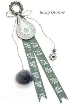 Glücksbringer für Weihnachten Lucky Charm, Merry, Charmed, Personalized Items, Christmas, Arts And Crafts, Schmuck, Dekoration, Ideas