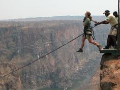 This is the Devils Swing, alongside Victoria Falls on the Zambia side.