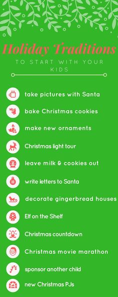 Holiday Traditions to Start with Your Kids. Besides Elf on the Flippin' Shelf!