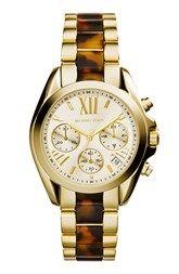 Michael Kors 'Bradshaw - Mini' Chronograph Resin Link Bracelet Watch, 36mm (Nordstrom Exclusive)