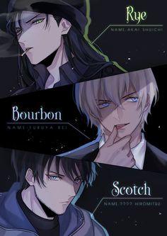 Who is Scotch really? Conan Comics, Detektif Conan, Handsome Anime Guys, Cute Anime Guys, Manga Boy, Manga Anime, Detective Conan Gin, Detective Theme, Garçon Anime Hot
