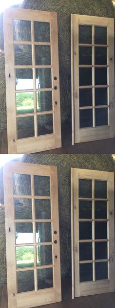 36 In X 80 In Woodgrain Doors 2 Panel Louver Solid Core Wood Closet