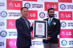 Another milestone for #LG with the longest line of sticky notes in Guinness World Record.