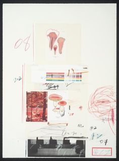 Cy Twombly 'No. V', 1974, Lithograph and mixed media on paper