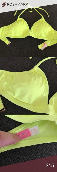 Bright neon yellow bikini top Bright yellow neon Victoria's Secret swim top Victoria's Secret Swim Bikinis