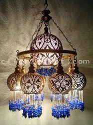 Handmade Brass Ring Beaded Ball Lampshades Chandelier Ceiling Lamp Handmade Brass Ring Beaded Ball L Chandeliers, Ceiling Lamp, Chandelier Lighting, Ceiling Lights, Moroccan Chandelier, Handmade Chandelier, Blue Chandelier, Moroccan Lamp, Wall Lamps