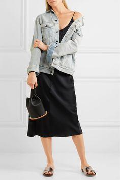 T by Alexander Wang - Silk-satin Midi Dress - Black - US10