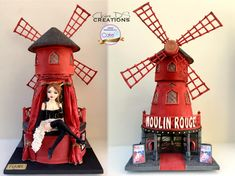 Moulin rouge CI Birmingham 2017 by Claire DS Cake International, Gravity Defying Cake, Creative Words, Birmingham, Sculpting, Presents, Christmas Ornaments, Holiday Decor, Claire