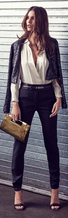 Halston Heritage Fall 2015. #pants #whiteshirt