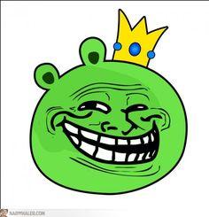 Angry Birds troll face