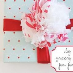 Gift bow made from recycled grocery bags - love it!