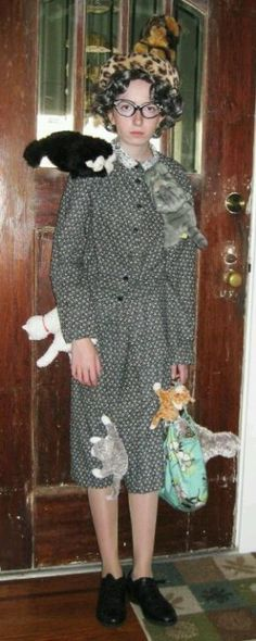 Old cat lady costume. Not kidding I was this last year