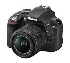 Amazon.com : Nikon D3300 24.2 MP CMOS Digital SLR with Auto Focus-S DX NIKKOR 18-55mm f/3.5-5.6G VR II Zoom Lens (Black) : Camera & Photo