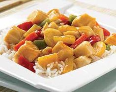 Sweet and Sour Chicken Dinner and other delicious groceries delivered to your door. #Schwans #FoodDelivery #Chicken&Turkey