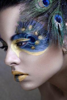 holi festival   le meilleur maquillage artistique professionnel avec plumes