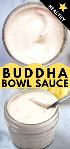 This Tahini Dressing is the perfect Buddha Bowl Sauce. Easy to whip together with simple ingredients, it's healthy, oil-free, and vegan! Buddha Bowl Sauce Recipe, Buddha Bowl Dressing Recipe, Buddha Bowl Sauces, Burrito Sauce Recipe, Sauce Recipes, Tofu Recipes, Healthy Sauces, Vegan Sauces, Vegan Tahini Dressing