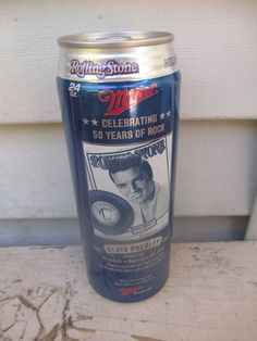 24OZ MILLER WOW ROLLING STONE ELVIS PRESLEY BEER CAN CANS