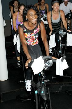 Two things we're loving: Venus William's fitness fashion line and Flywheel Sports!