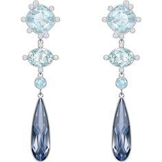 d71079b58 Earrings by SWAROVSKI. Blue CrystalsSwarovski CrystalsWedding Ring BoxCrystal  JewelryPlatingWedding IdeasSparkleWeddingsPiercings