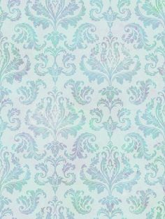 A modern, busy damask in happy blues. The saturation of color fades in and out, to mimic a tie dye effect.
