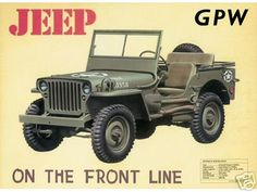 JEEP+GPW+TIN+SIGN+ADV+FORD+WILLYS+US+VEHICLE+SIGNS+W
