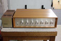 Wooden Case, Audio System, Vintage, Vintage Comics, Primitive