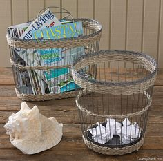 30 Best Waste Baskets Garbage Cans Images Garbage Can Baskets