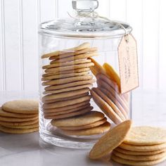 Crisp Sugar Cookies Recipe- Recipes My grandmother always had sugar cookies in her pantry, and I now regularly bake these wonderful cookies to share with friends. We grandchildren would empty that big jar quickly because those cookies were the best! Cookie Crisp, Cookie Bars, Thin Cookie Recipe, Home Made Cookies Recipe, Brownie Cookies, Cake Cookies, Cookie Dough, Cookie Desserts, Donuts