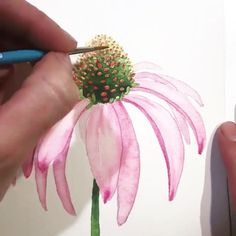 Likes, 19 Comments - Watercolor_flower ( - Farm House Decor Watercolor Painting Techniques, Watercolour Tutorials, Watercolour Painting, Painting & Drawing, Watercolors, Tattoo Watercolor, Painting Tattoo, Painting Tutorials, Body Painting