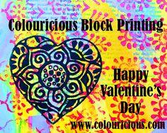 Heart Designs | Valentine Crafts | Wooden Printing Blocks |