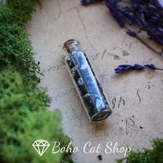 Elite Noble Shungite Crystals in bottle Reiki Healing