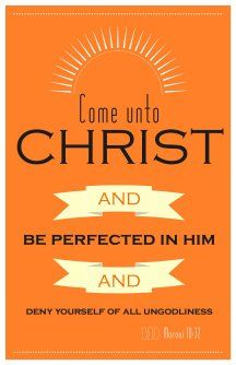 2014 YM/YW theme Come Unto Christ LDS poster (card also available)