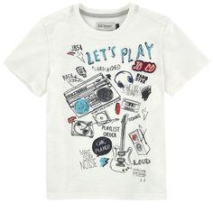 T-shirt illustré en jersey flammé - 158612 Jean Shirts, Boys Shirts, Cool T Shirts, Boys Summer Outfits, Boy Outfits, Baby Kids Wear, Kids Coats, Kids Fashion Boy, Summer Shirts
