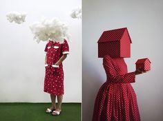 Bizarre Living Art Sculptures Featuring Human Subjects In Surreal Settings - DesignTAXI.com