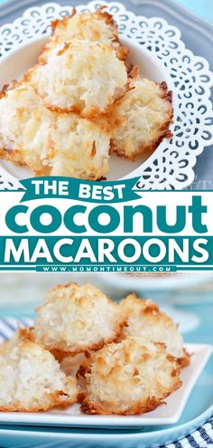 Get ready to indulge in this delicate, sweet treat! Beautifully toasted on the outside with a soft and chewy center, this coconut macaroons recipe without condensed milk is the BEST. What's more, you only need a few ingredients for this quick and easy dessert! Iced Sugar Cookie Recipe, Best Homemade Cookie Recipe, Peanut Butter Cookie Recipe, Homemade Cookies, Holiday Cookie Recipes, Easy Cookie Recipes, Easter Recipes, Simple Recipes, Bite Size Desserts