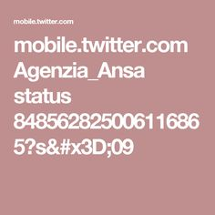 mobile.twitter.com Agenzia_Ansa status 848562825006116865?s=09
