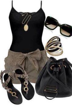 Black and kaki