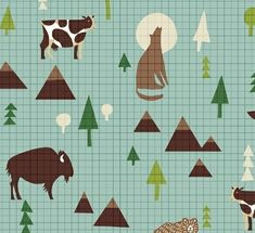 Items similar to Boys Crib Bedding - Wildlife Nursery /Fitted Crib Sheet /Woodland Nursery Bedding /Babyletto Mini Crib Sheet /Changing Pad Cover /Baby Sheet on Etsy Woodland Nursery Bedding, Crib Bedding Boy, Amy Butler Fabric, Baby Sheets, Windham Fabrics, Beds For Sale, Modern Fabric, Cotton Quilts, Printing On Fabric