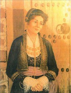Macedonian Dress - Macedonian ladies wearing Greek Traditional from Folk Costume, Costumes, Empire Ottoman, Macedonia Greece, Greek History, Greek Culture, Alexander The Great, Fabric Art, Headpiece