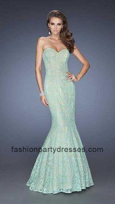 La Femme 20047 Fantasy Floral Lace Mermaid Evening Gown
