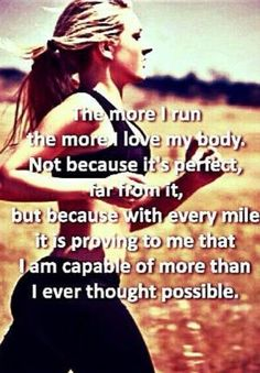 So true. If you told me that I would be running miles when I was recovering from back surgery I would have laughed and told you that you had me confused with somebody else. I cry at some point during each run because my legs hurt. Not because the pain is there, but because I can feel it and it reminds me how incredibly lucky I am. by KELLIMeex