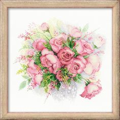 Незабываемый цветочный сюжет #riolis#риолис#вышивка#cross#stitch