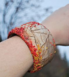 IN Love with Nature - Fall - Polymer Clay Bracelet by  artist Natalja Ivankova